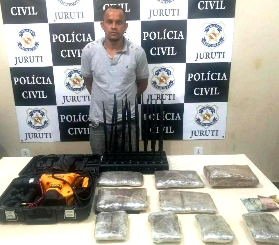 PM prende foragido de justiça com 4,5 quilos de supermaconha em Juruti, supermaconha em Juruti: Elenilson