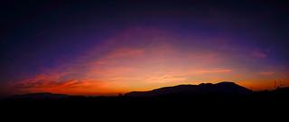 Benarty, a panoramic Velvia sunrise