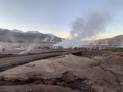 El Tatio Geysers at 4.320 meters (14,176.51 ft) above sea level, the Andes Mountains, Chile.
