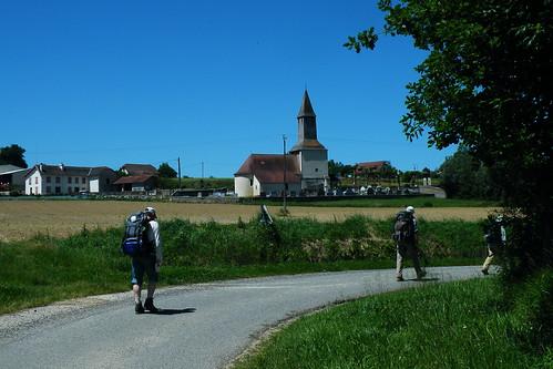 20090529 082 1108 Jakobus Ortschaft Weg Kirche Herman Martin Roseanni Pilger