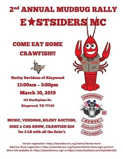 March 30 Eastsiders Mudbug Rally Bike & Car Show Kingwood | by teejaze