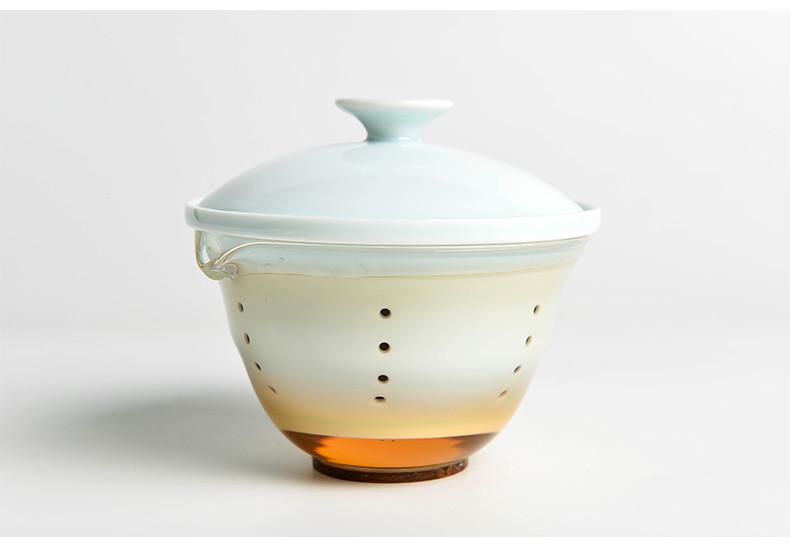 Vehicle Travel Porcelain  Tea Set for Chinese Gongfu Tea