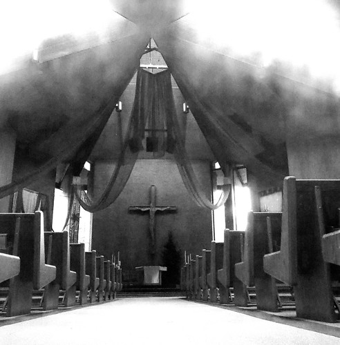 blackandwhite church churchinterior catholic catholicchurch altar redmondwa redmond pews