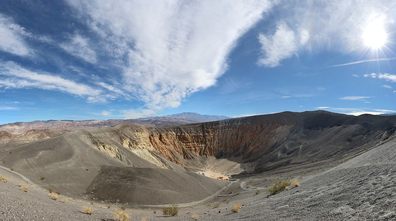 Panorama view of Ubehebe Crater from the parking area