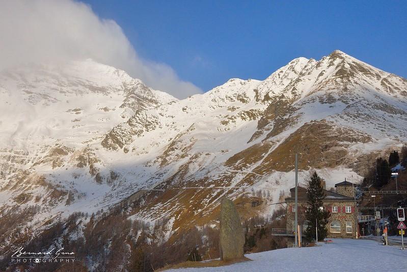 L'Alp Grüm au pied des sommets sud du massif de la Bernina - Bernina Express -  Voyage Bernard Grua - Rhätische Bahn, Chemins de fer rhétiques
