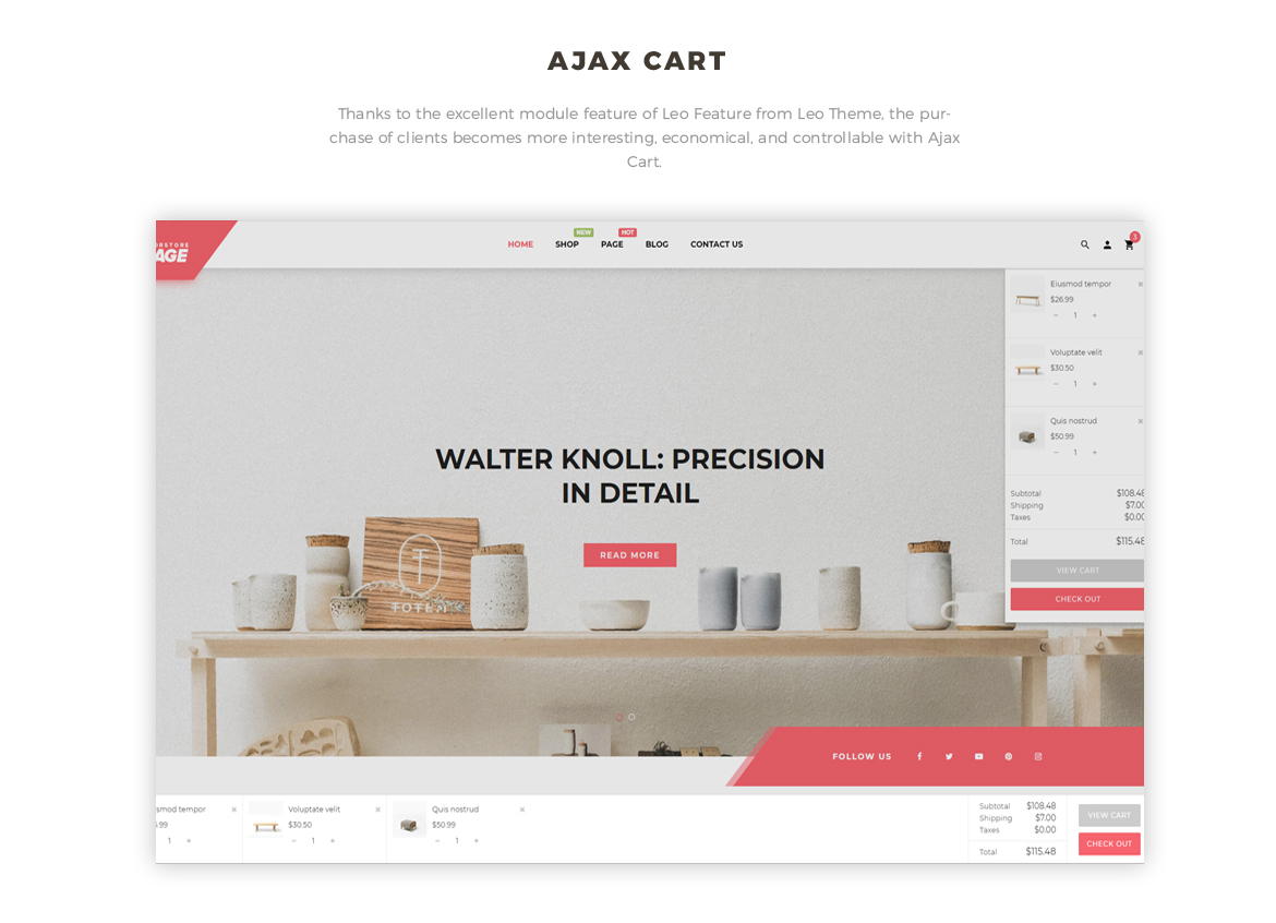 Bos Voyage Responsive Furniture & Interior Prestashop Theme - Flying Ajax Cart