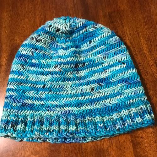 Sandi's Brushstroke Hat by Black Cat Knitting Company