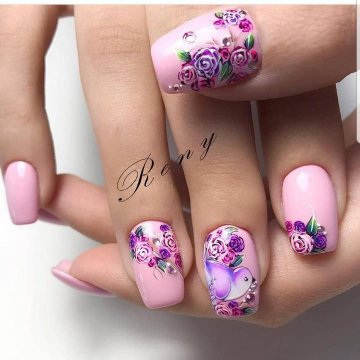 pointed spring nail art 2019 ideas with flowers
