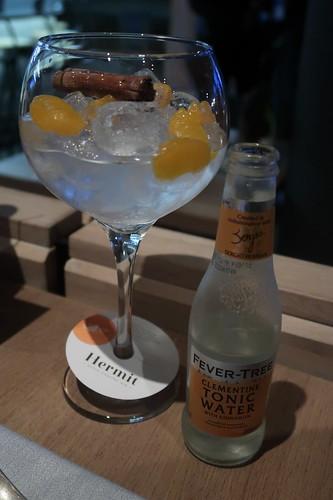 Hermit Dutch Coastal Gin mit Fever Tree Clementine Tonic und Zimtstange