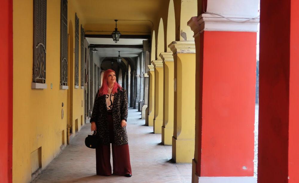 outfit plus size, curvy, panta palazzo e cappotto leopardato (9)