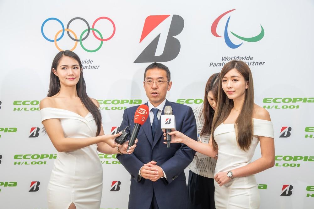 圖四:普利司通集團很榮幸的成為奧運全球合作夥伴,陪伴選手實踐夢想,實現社會貢獻責任。