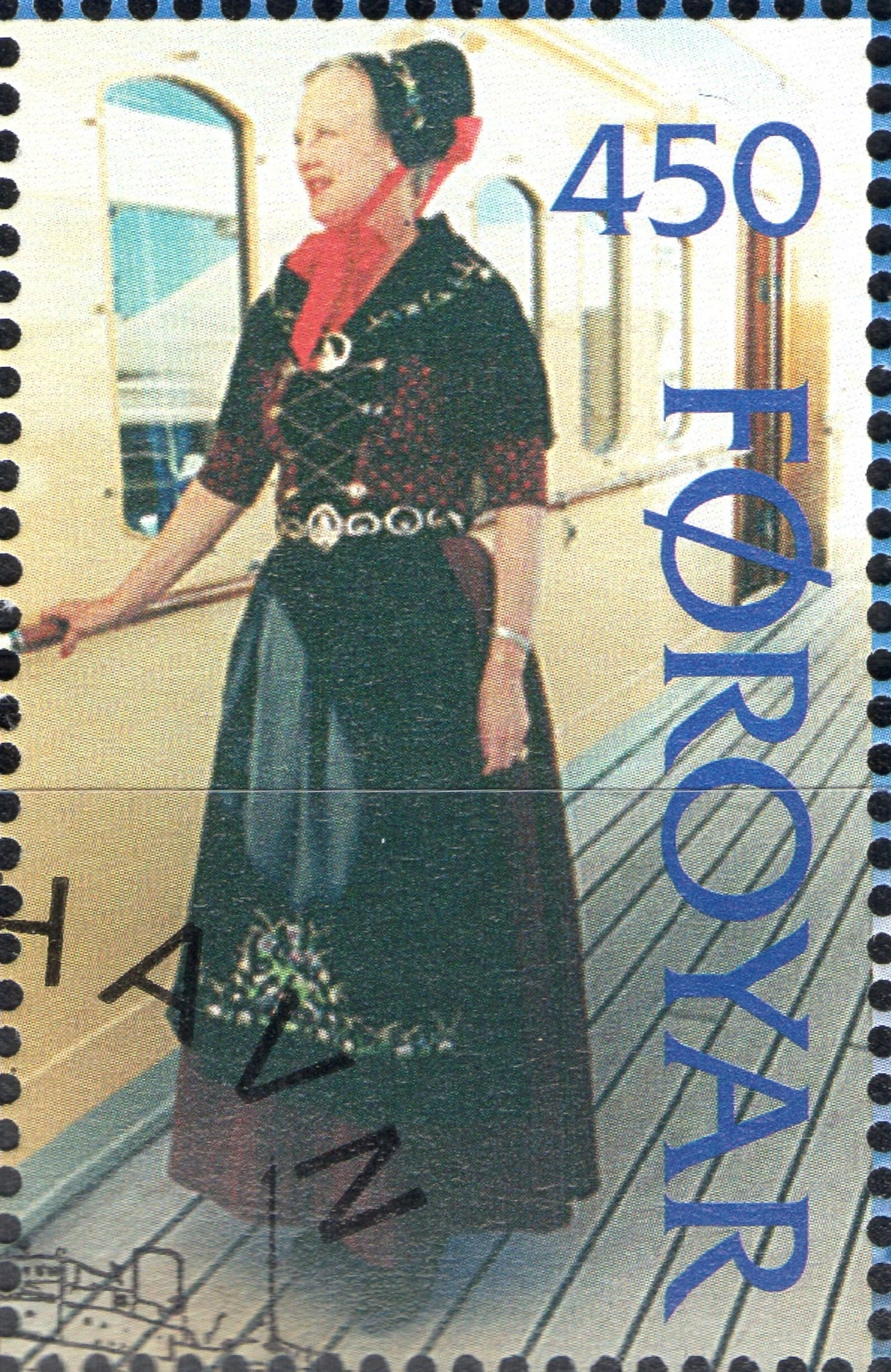 Faroe Islands - Scott #312 (1997) digitally cropped from souvenir sheet