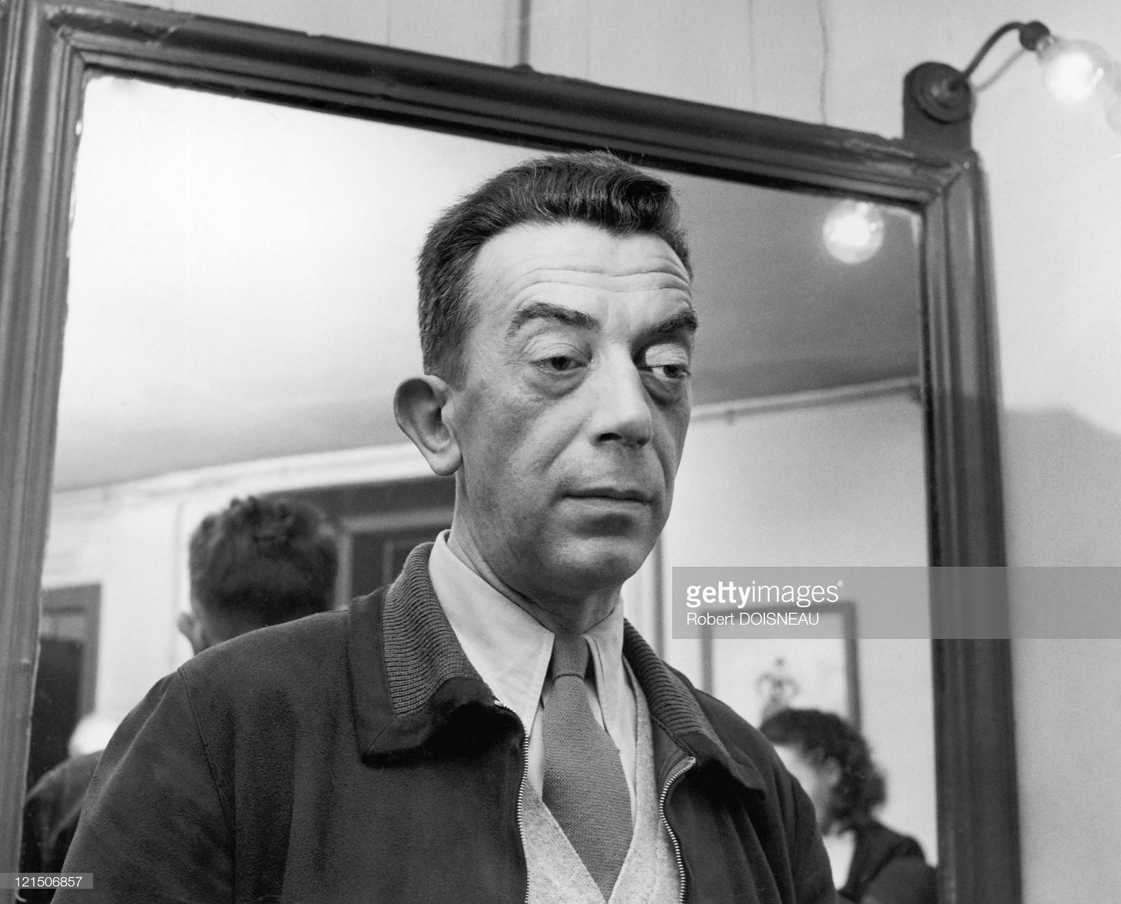 1955. Портрет французского писателя Марселя Эме