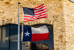 Texas State Flag and American Flag