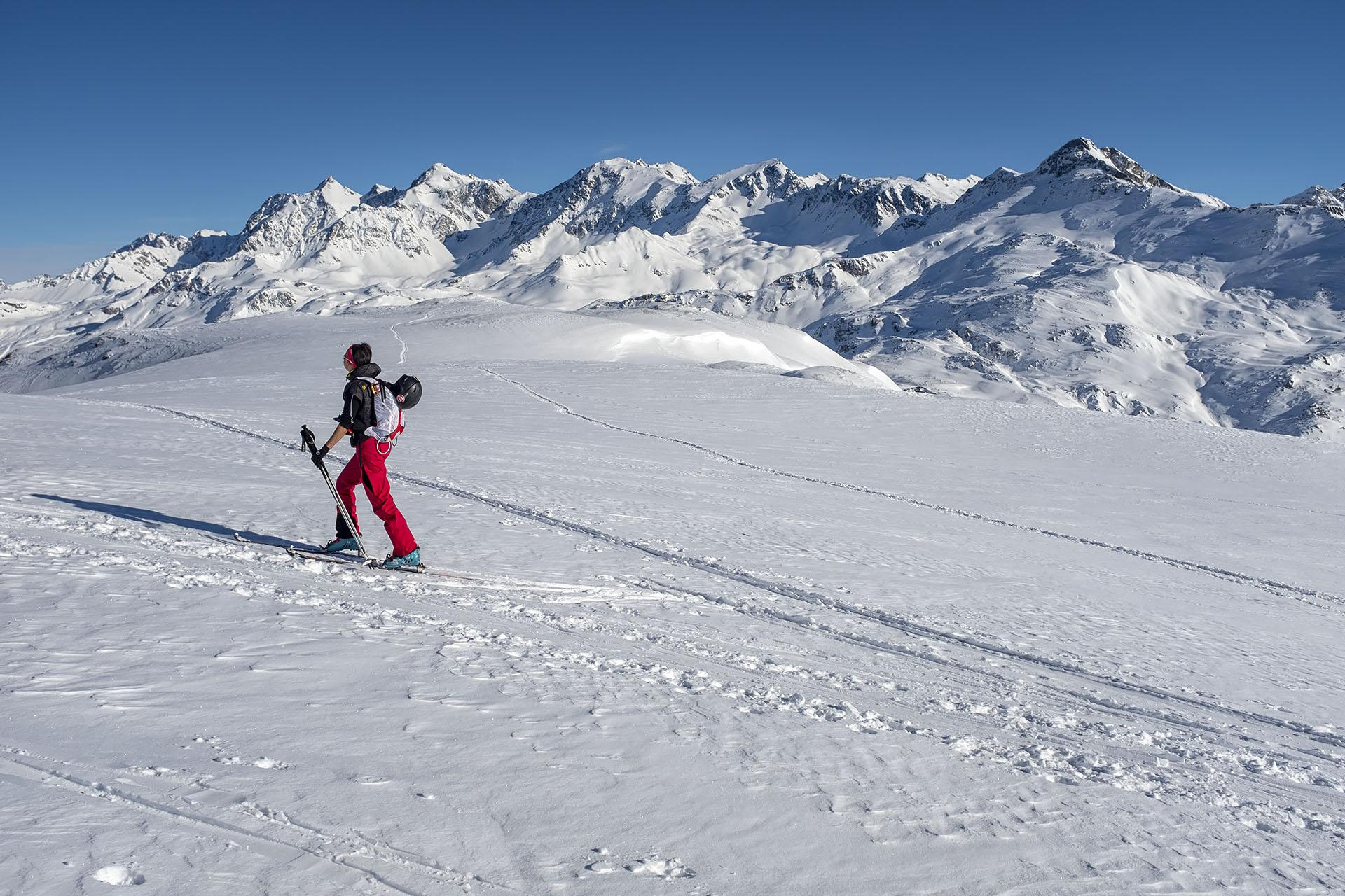 Scialpinismo al Piz Scalotta: balcone sulle Alpi dell'Albula
