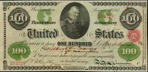 1864 $100 Interest Bearing Note