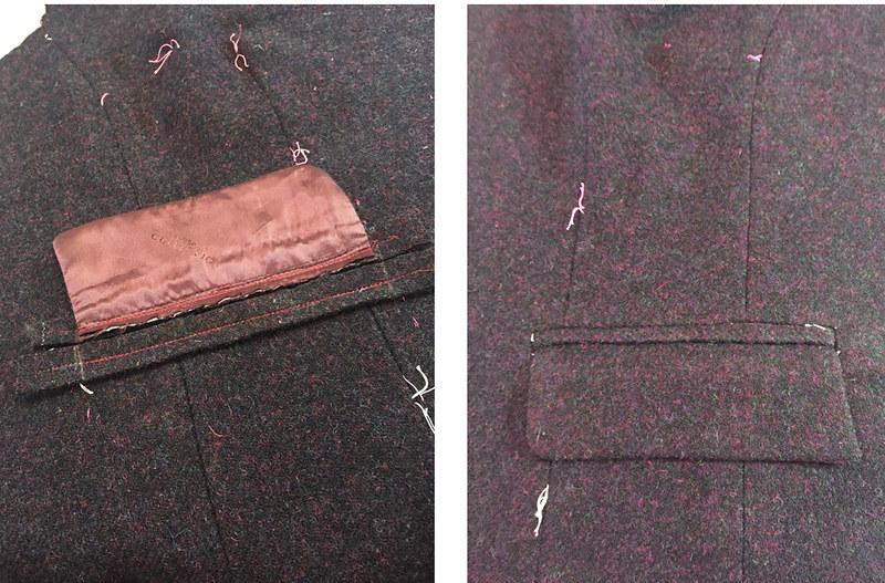 H blazer pocket details