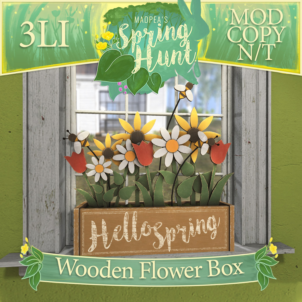 MadPea Spring Hunt – Wooden Flower Box!