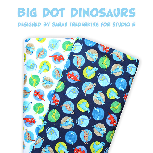 Studio E Fabrics Hear Me Roar! Big Dot Dinosaurs