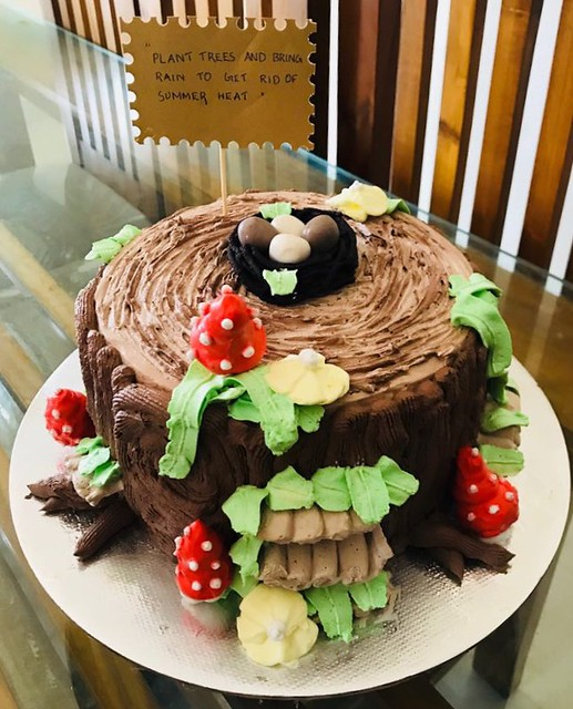 Tree Stump Cake by Mufeeda PM