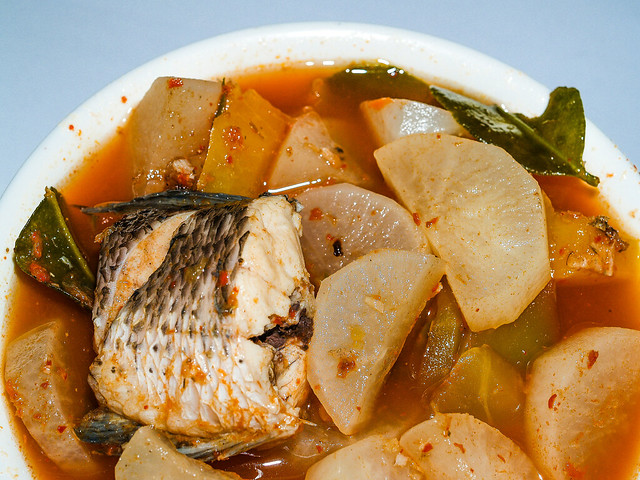 tom yum fish, Thai food