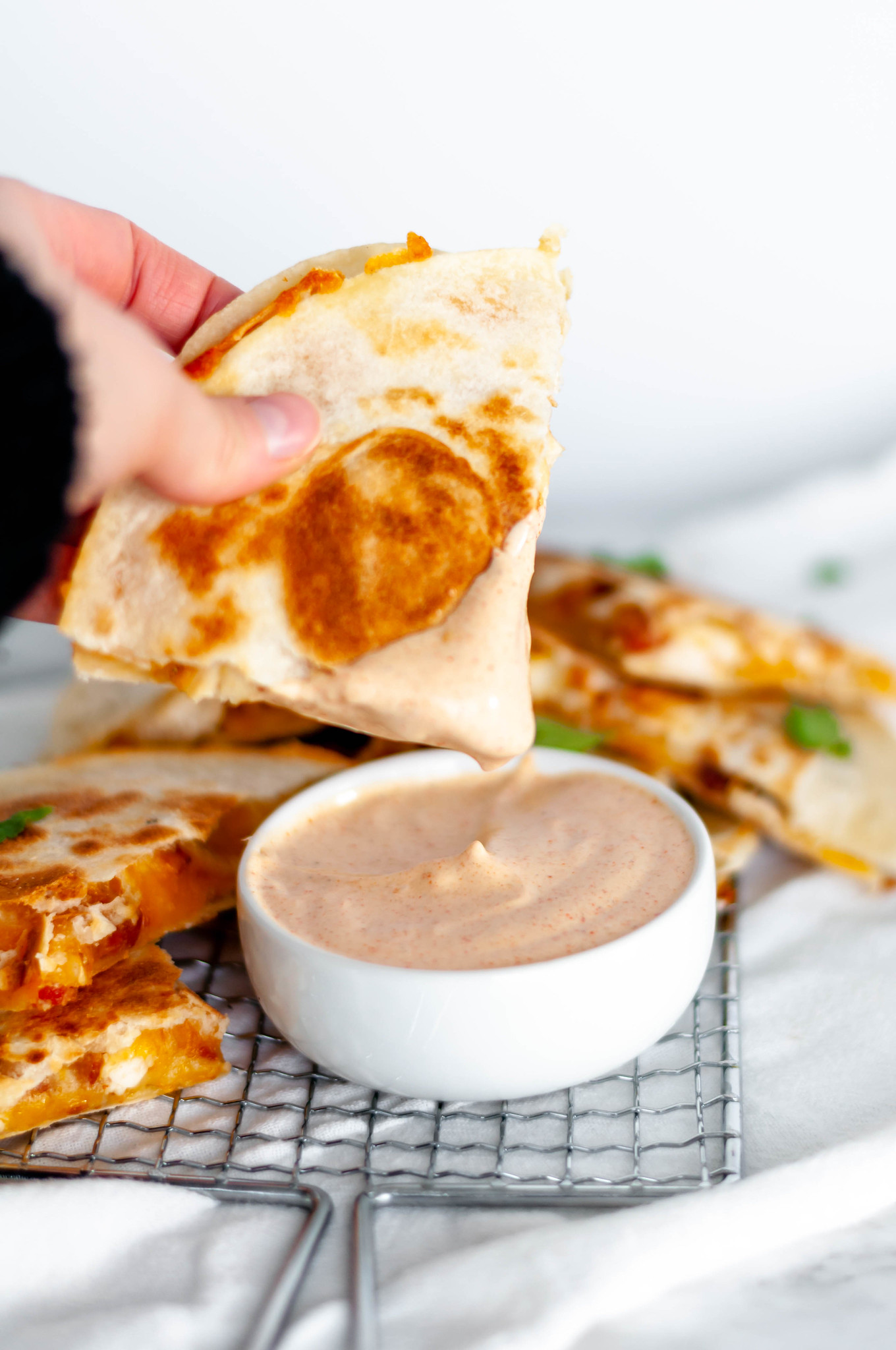 This copycat Taco Bell Quesadilla Sauce is just like the real deal and so simple to make at home. Spice up your favorite quesadilla with this yummy sauce.This copycat Taco Bell Quesadilla Sauce is just like the real deal and so simple to make at home. Spice up your favorite quesadilla with this yummy sauce.