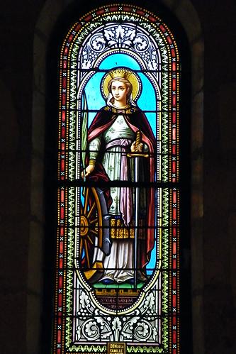 20090528 098 1107 Jakobus Kirche Fenster Katharina