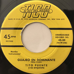 TITO PUENTE Y SU ORQUESTA:MAMBO GALLEGO(LABEL SIDE-B)