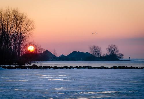 Sunrise over Kingsville Harbour