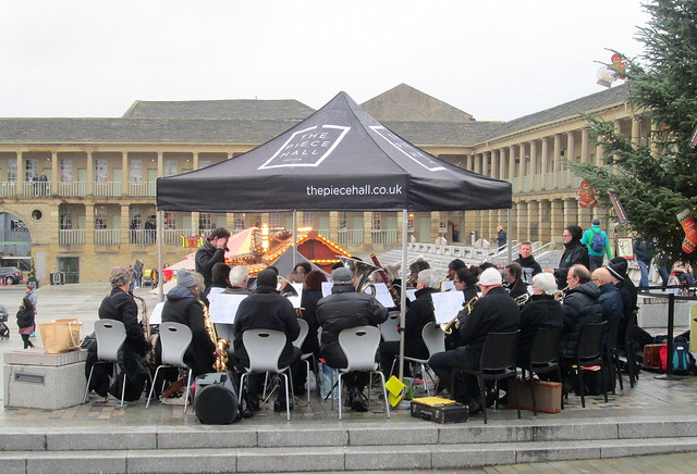 Band at Piece Hall, Halifax