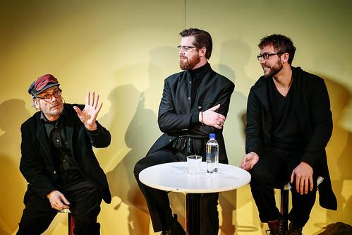 Richard Carlsohn, Tobias ALmborg och Maurits Elvingsson i Nån sorts lugn före stormen