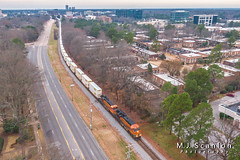 BNSF 3875 | GE ET44C4 | NS Memphis District West End