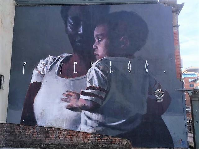 Manchester == Street Art = PETERLOO ........
