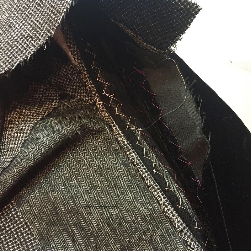 Saler jacket inside hand stitch