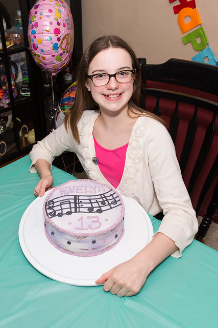 Thirteenth Birthday Cake