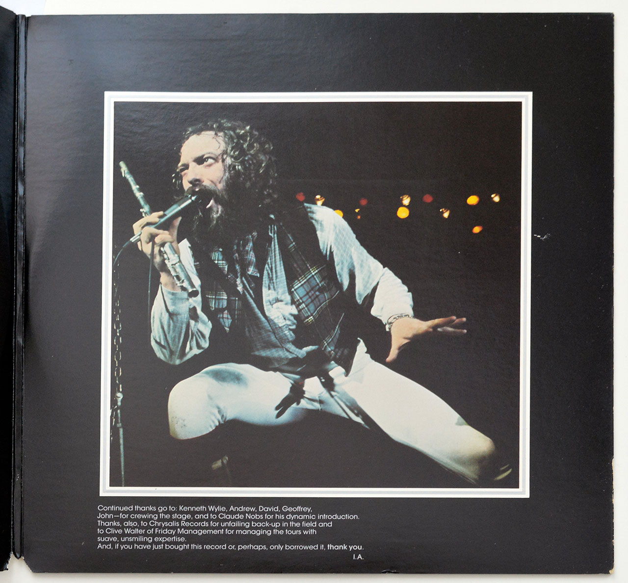 A0684 JETHRO TULL Live - Bursting Out 2LP
