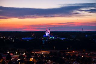 A Beautiful Evening over the Magic Kingdom