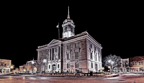 Maury County Courthouse at Night DSC_0403_A1