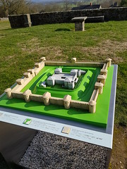 Model of Jublains' fortified warehouse.