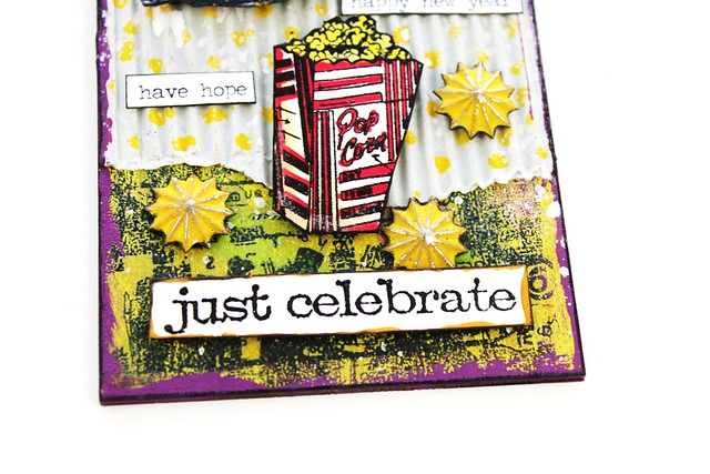 Meihsia Liu Simply Paper Crafts Mixed Media Tag New Year Party Simon Says Stamp Tim Holtz 4