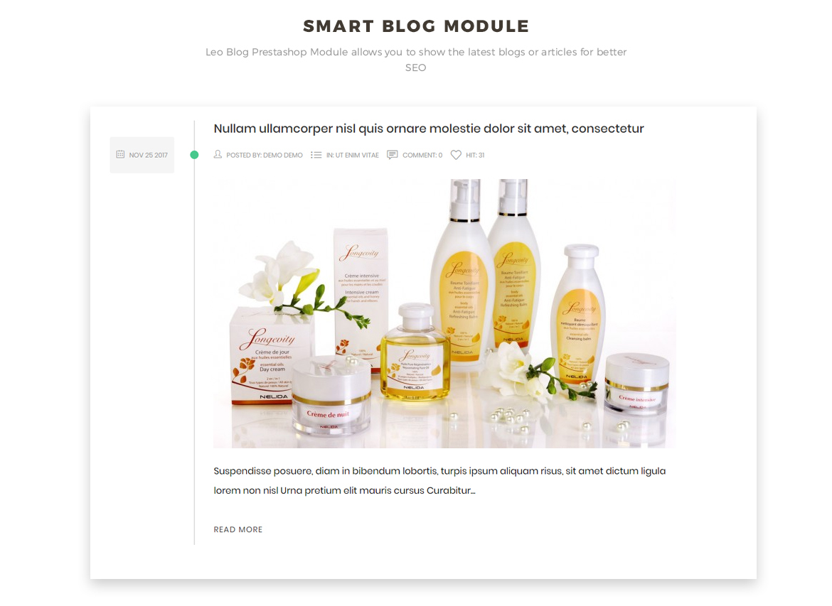 blog module - Bos Nature - Skin Care and Beauty Spa