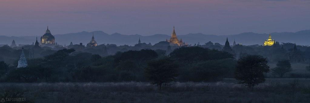 Panorama Bagan by night - Bagan