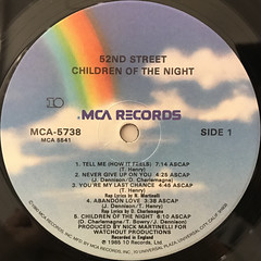 52ND STREET:CHILDREN OF THE NIGHT(LABEL SIDE-A)