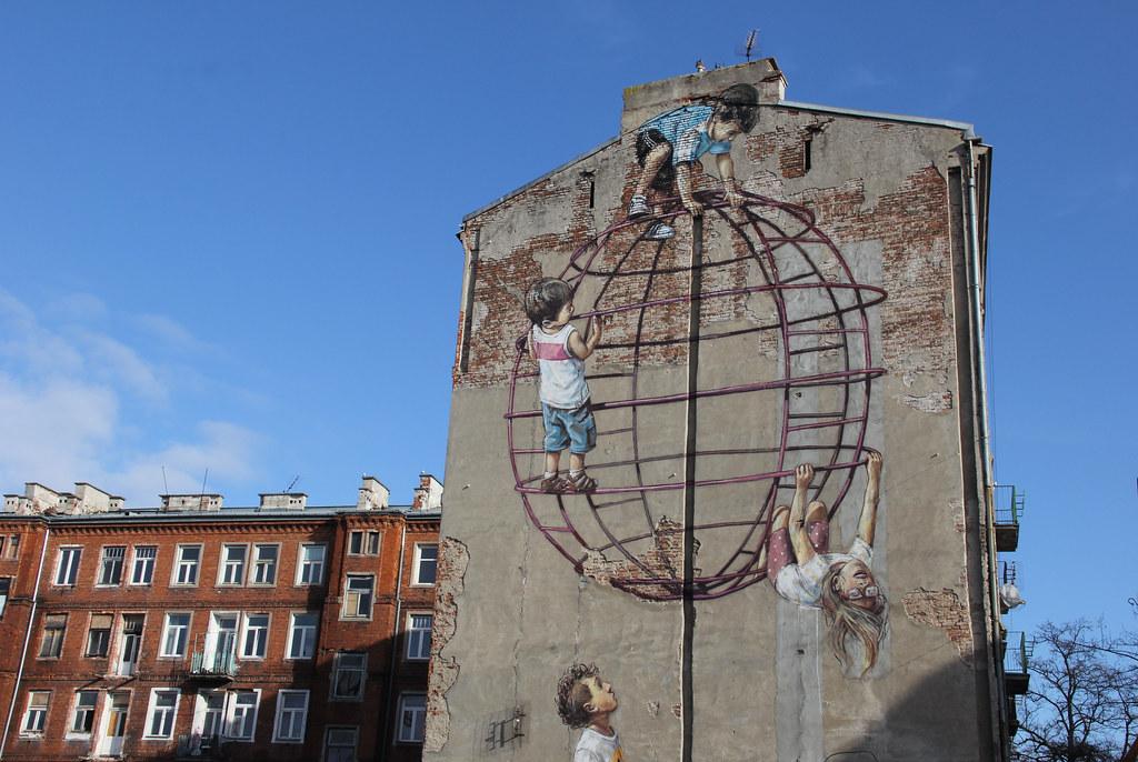 Street art, Praga, Warsaw
