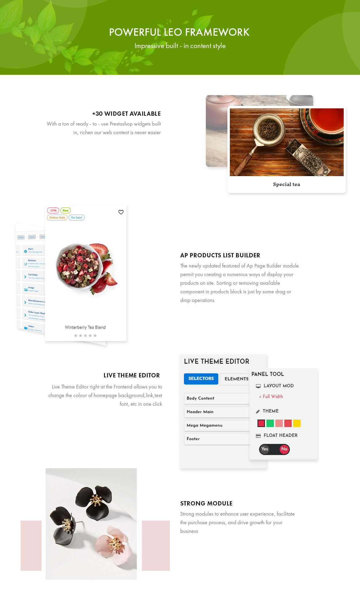 Powerful Leo Framework - Leo Zlin - Tea Shop Prestashop theme