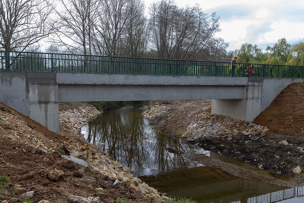 Travaux de reconstruction du pont du Bahus sur la RD 369