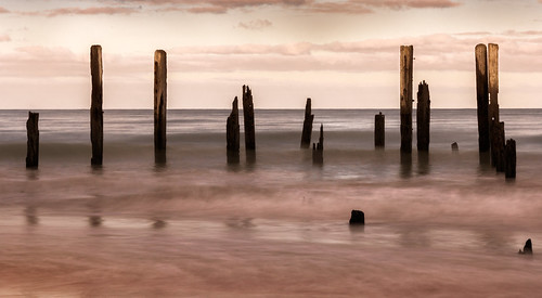 sunrise beach southaustralia summer jetty ruin portwillunga longexposure hightide filter breakthroughphotography neutraldensity nd6