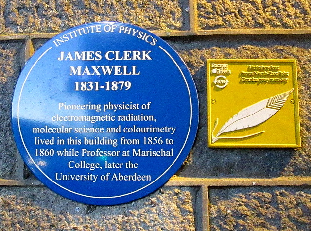 James Clerk Maxwell Plaque, Aberdeen