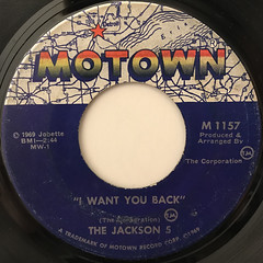 THE JACKSON 5:I WANT YOU BACK(LABEL SIDE-A)