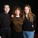Wed, 23/01/2019 - 2:33pm - Maggie Rogers and guitarist Elle Puckett perform in WFUV's Studio A and chat with DJ Carmel Holt, 1/23/19. Photo by Gus Philippas